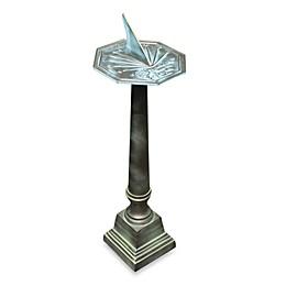 Rome Sundial Pedestal in Aluminum