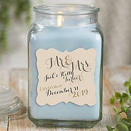 Mr. & Mrs. Personalized Crystal Waters Candle Jar Collection