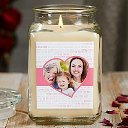 Love You This Much Personalized Vanilla Bean Photo Candle Jar Collection