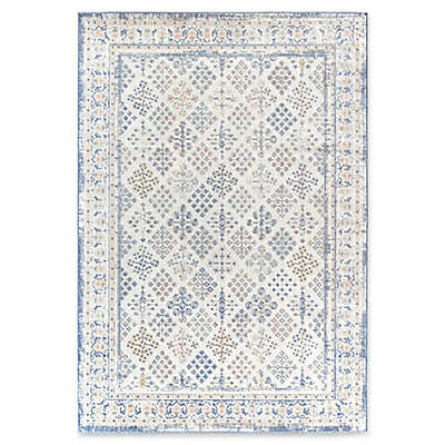 Rugs America Zyra Vintage Power-Loomed Indoor/Outdoor Area Rug in Ivory