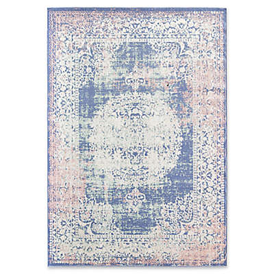 Rugs America Zyra Vintage Power-Loomed Indoor/Outdoor Area Rug in Rose