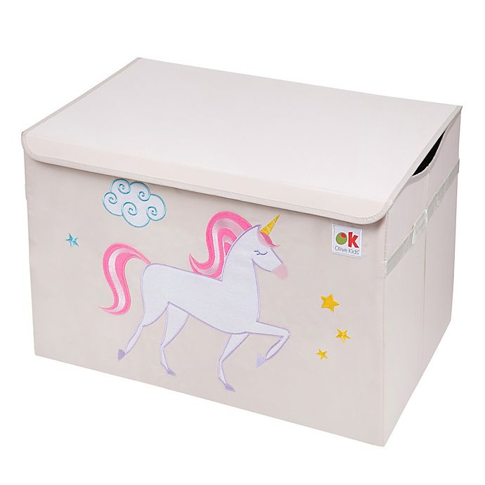 Alternate image 1 for Wildkin™ Unicorn Toy Chest in Tan
