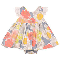 Baby Starters® Watercolor Floral Dress and Ruffled Diaper Pant Set