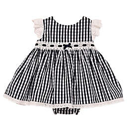 Baby Starters® Gingham Dress and Diaper Pant Set in Navy
