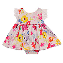 Baby Starters® Bright Floral Dress and Ruffled Diaper Pant Set