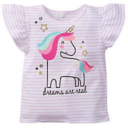 Gerber® Stripe Unicorn Top in Pink