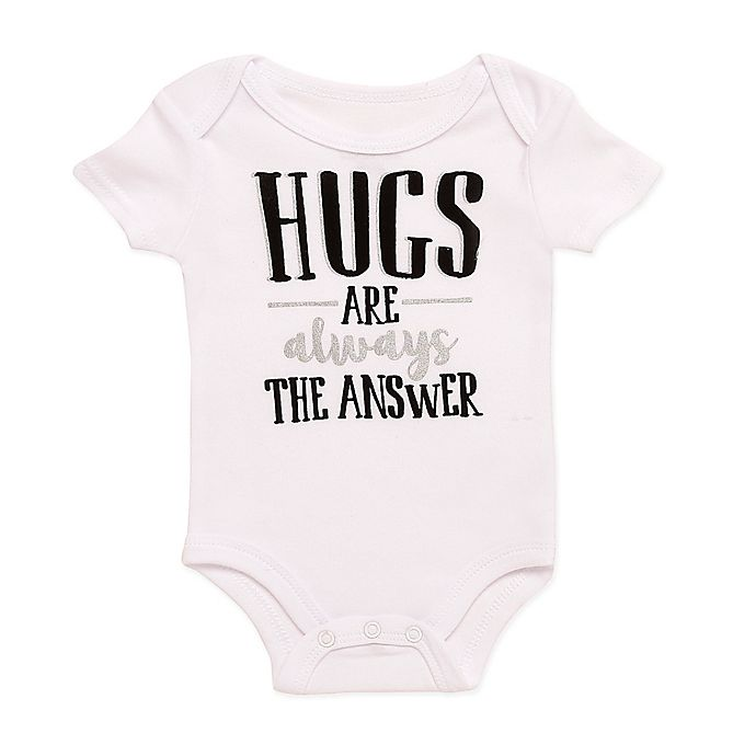 a8d7ed2b5 Baby Starters® BWA® Hugs Are the Answer Bodysuit in White | buybuy BABY