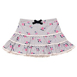Baby Starters® Striped Rosette Print Tutu Skirt in Blue/White