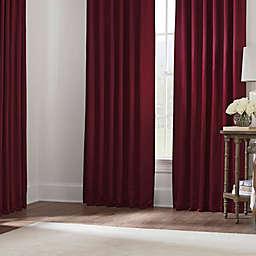 Silken Window Curtain Panels and Valance