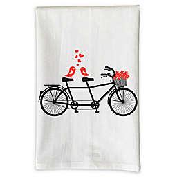 Love You A Latte Shop Love Bird Bike Kitchen Towel
