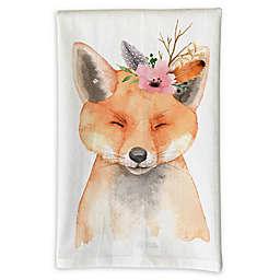Love You A Latte Shop Fox Kitchen Towel