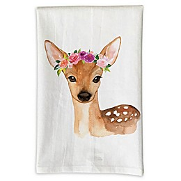 Love You a Latte Shop Deer Kitchen Towel
