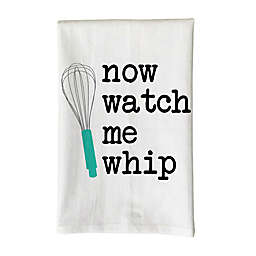 """Love You a Latte Shop """"Now Watch Me Whip"""" Kitchen Towel in White"""