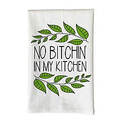 "Love You a Latte Shop ""No B*tchin' in my Kitchen"" Kitchen Towel in White"
