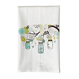 Love You a Latte Shop Mason Jar Tree Kitchen Towel in White