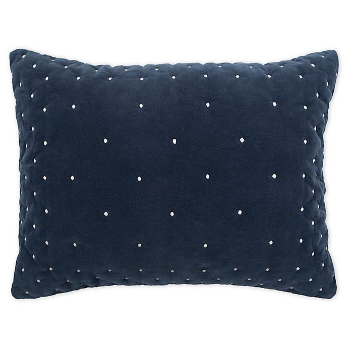 Alternate image 1 for Rizzy Home Giavonna King Pillow Sham in Navy