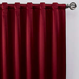 Silken Rod Pocket/Back Tab Window Curtain Panel (Single)