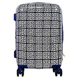 Macbeth Geo 21-Inch Hardside Spinner Carry On Luggage in Blue