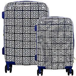 Macbeth Geo 2-Piece Hardside Spinner Luggage Set in Blue