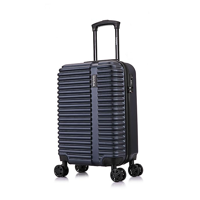 Alternate image 1 for InUSA Ally 20-Inch Hardside Spinner Carry On Luggage in Navy/Blue