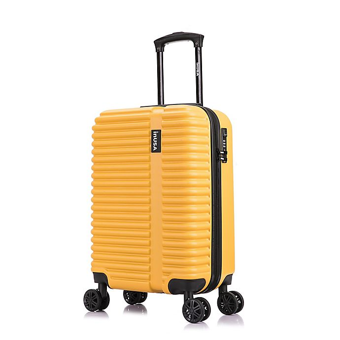 Alternate image 1 for InUSA Ally 20-Inch Hardside Spinner Carry On Luggage in Mustard