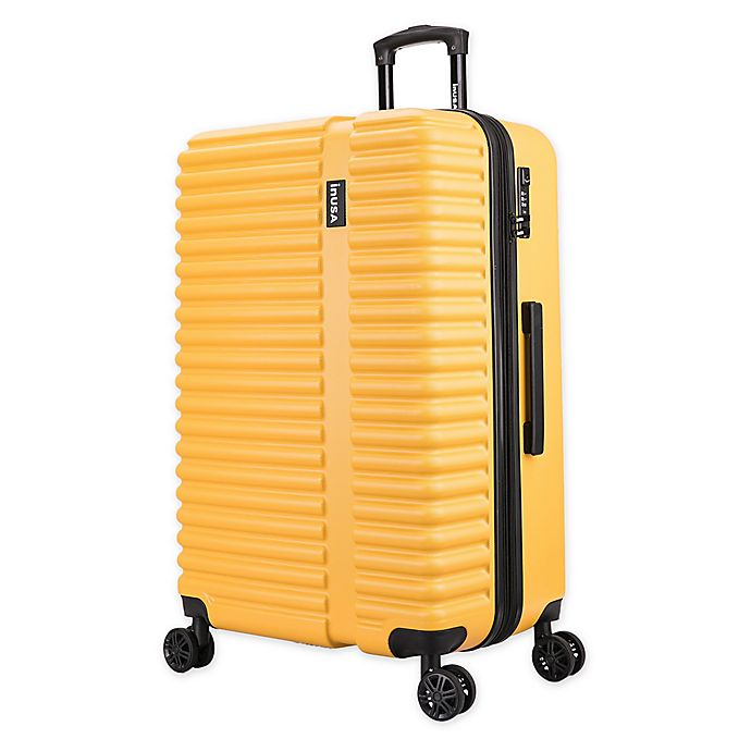 Alternate image 1 for InUSA Ally 28-Inch Hardside Spinner Checked Luggage in Mustard