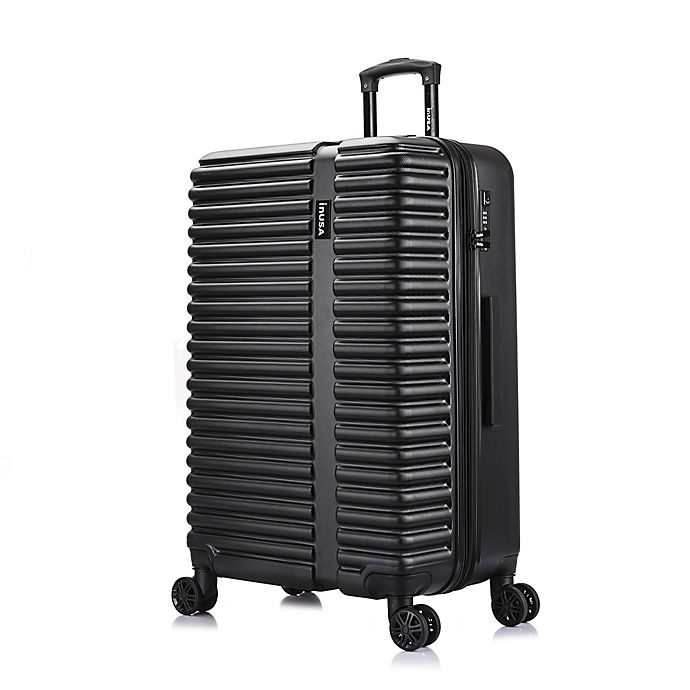 Alternate image 1 for InUSA Ally 28-Inch Hardside Spinner Checked Luggage in Black