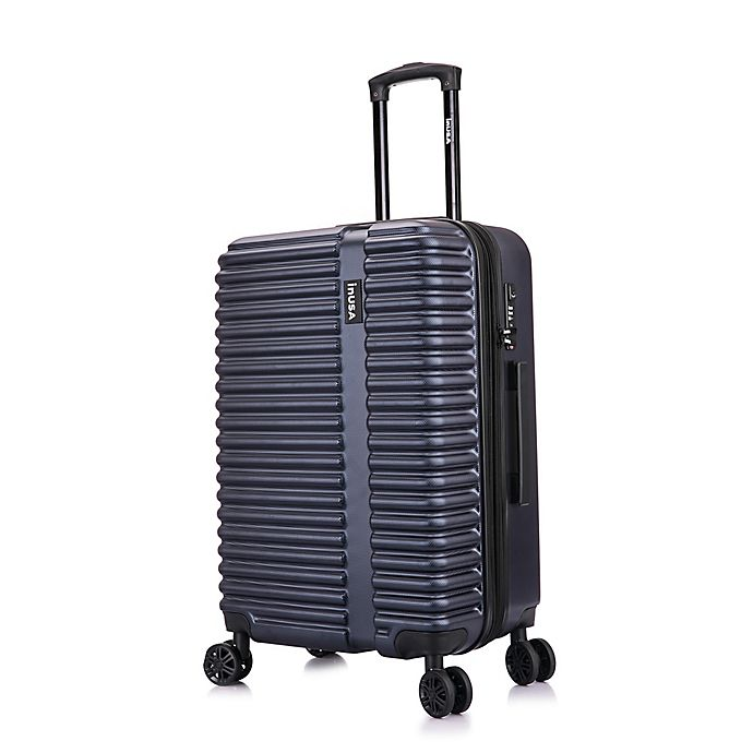 Alternate image 1 for InUSA Ally 24-Inch Hardside Spinner Checked Luggage in Navy/Blue