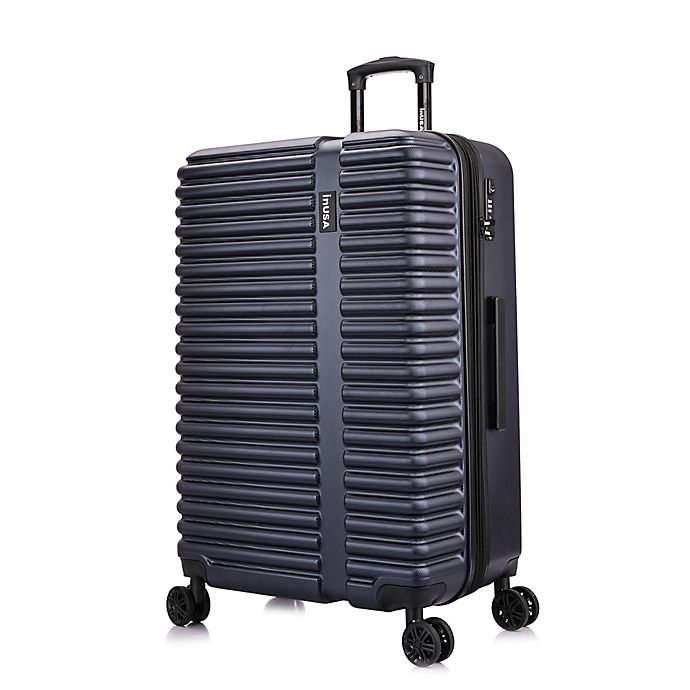Alternate image 1 for InUSA Ally 28-Inch Hardside Spinner Checked Luggage in Navy/Blue