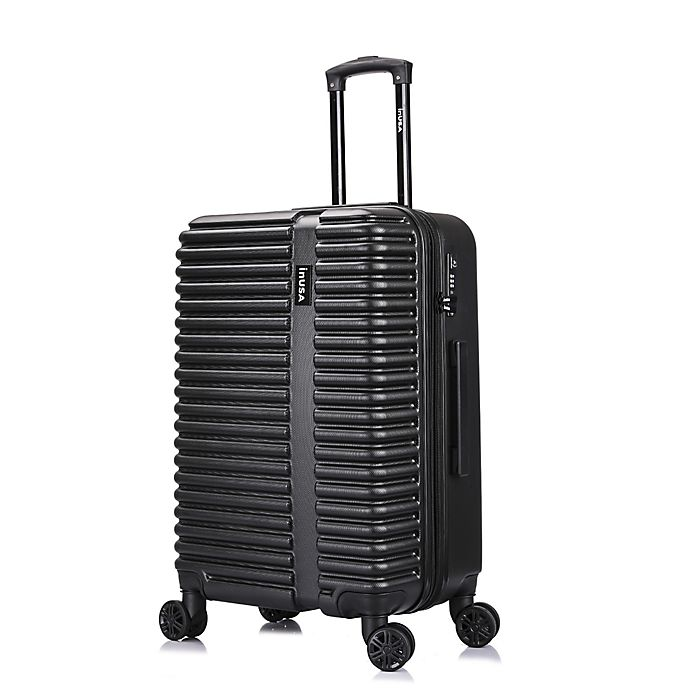 Alternate image 1 for InUSA Ally 24-Inch Hardside Spinner Checked Luggage in Black