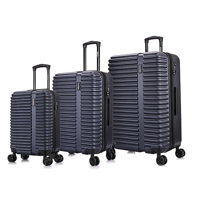 Alternate image 1 for InUSA Ally 3-Piece Hardside Spinner Luggage Set in Navy/Blue