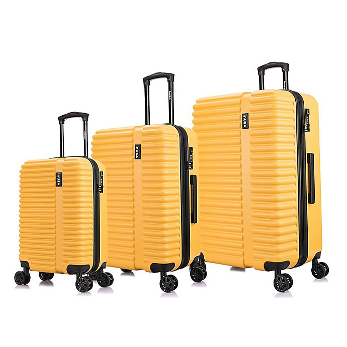 Alternate image 1 for InUSA Ally 3-Piece Hardside Spinner Luggage Set in Mustard