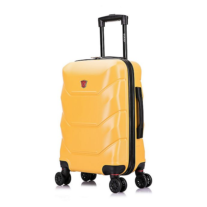 Alternate image 1 for DUKAP® Zonix 20-Inch Hardside Spinner Carry On Luggage in Mustard