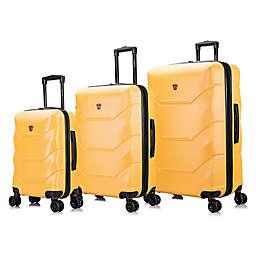 DUKAP® Zonix 3-Piece Hardside Spinner Luggage Set in Mustard