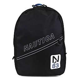 Nautica® Kids Crest Diagonal Zip 16.5-Inch Full Size Backpack in Navy