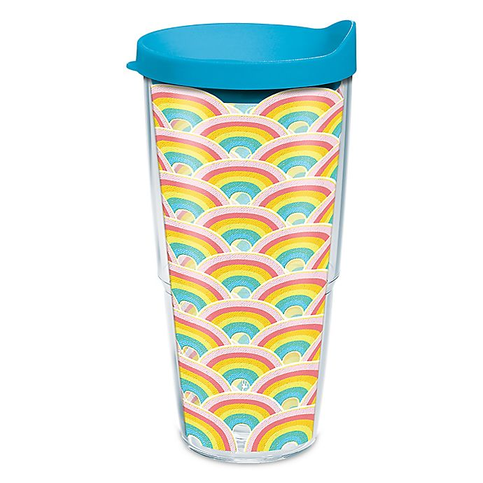 Alternate image 1 for Tervis® Rainbow Pattern 24 oz. Wrap Tumbler with Lid