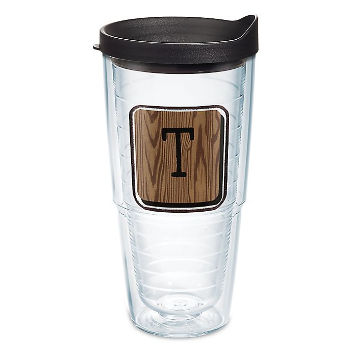 Alternate image 1 for Tervis® Wood Tile Initial \
