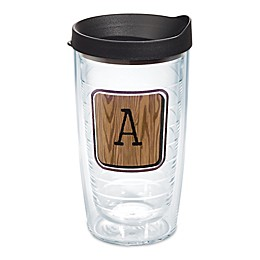 Tervis® Wood Tile Initial Wrap Tumbler with Lid