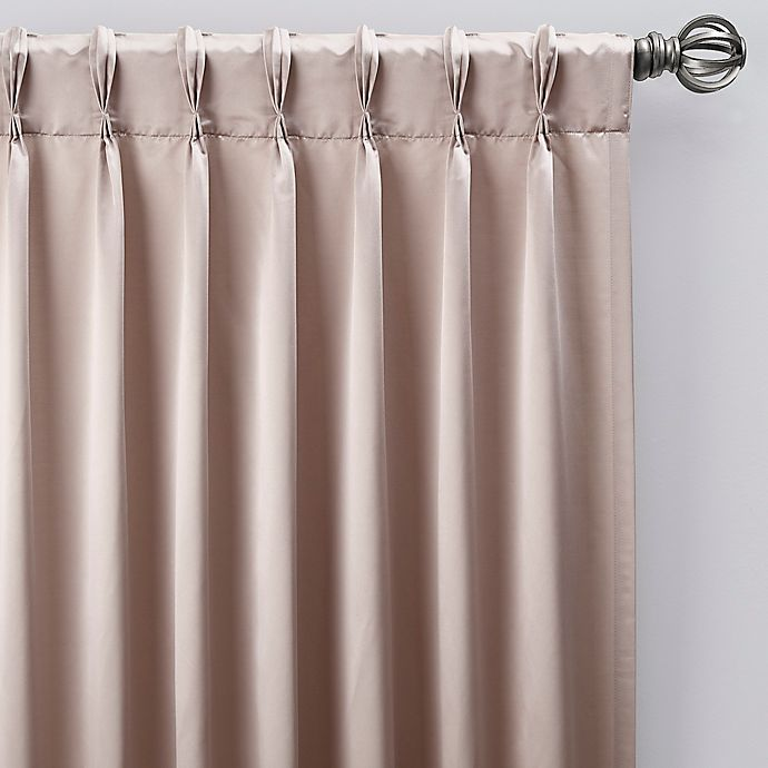 Alternate image 1 for Silken 63-Inch Pinch Pleat Window Curtain Panel in Platinum