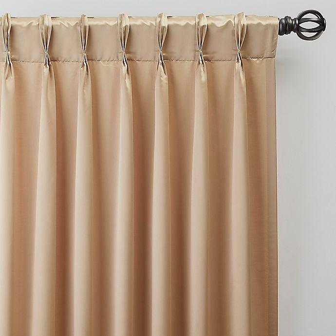 Alternate image 1 for Silken 63-Inch Pinch Pleat Window Curtain Panel in Champagne
