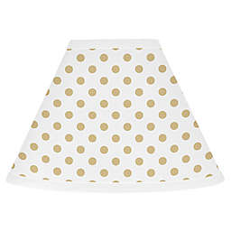 Sweet Jojo Designs® Polka Dot 7 Inch Fabric Cone Lamp Shade in Gold/white