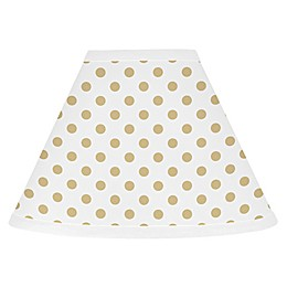 Sweet Jojo Designs® Polka Dot Lamp Shade in Gold/White
