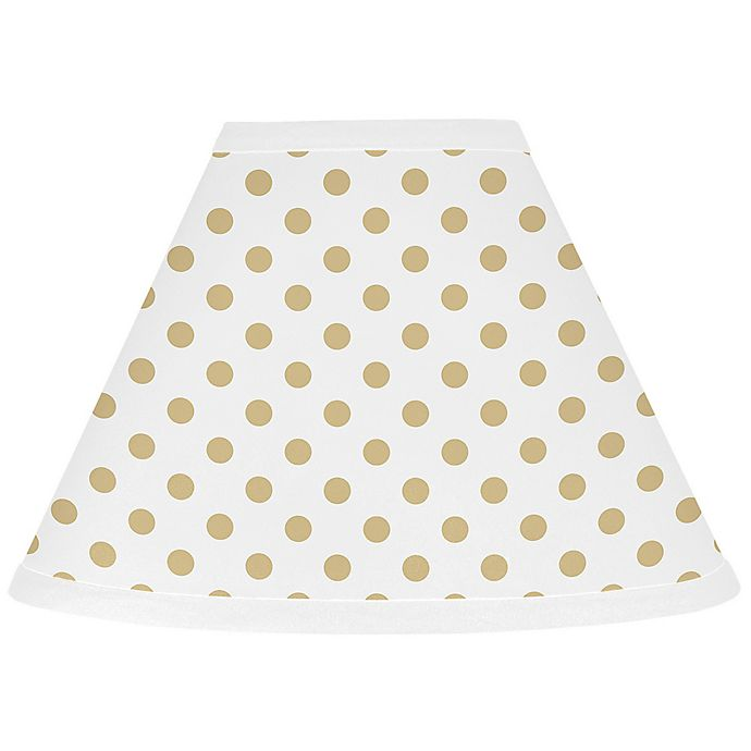 Alternate image 1 for Sweet Jojo Designs® Watercolor Floral 7-Inch Cone Lamp Shade in Gold/White