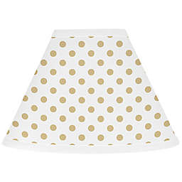 Sweet Jojo Designs® Watercolor Floral 7-Inch Cone Lamp Shade in Gold/White