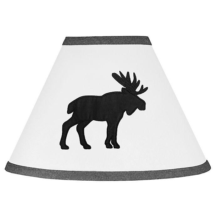 Alternate image 1 for Sweet Jojo Designs Rustic Moose 7-Inch Lamp Shade in Black/White