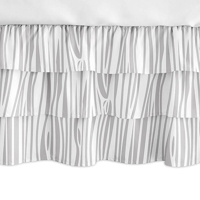 Alternate image 1 for Sweet Jojo Designs Woodland Animals Ruffled Crib Skirt in Grey