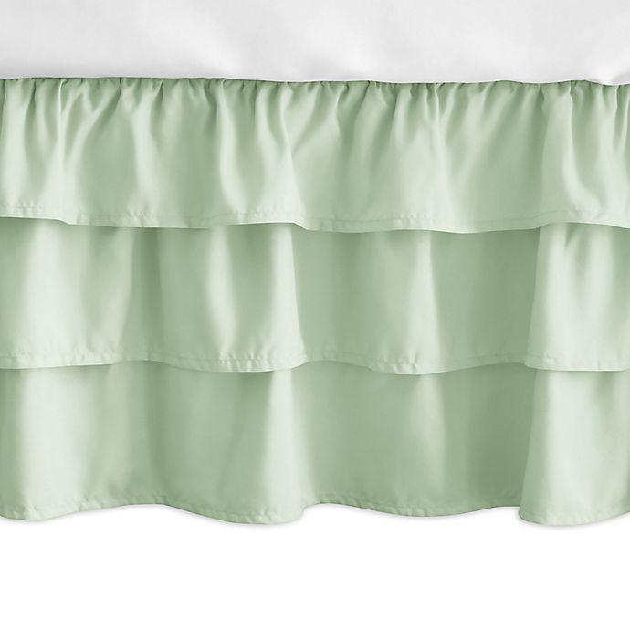 Alternate image 1 for Sweet Jojo Designs Woodsy Ruffled Crib Skirt in Mint