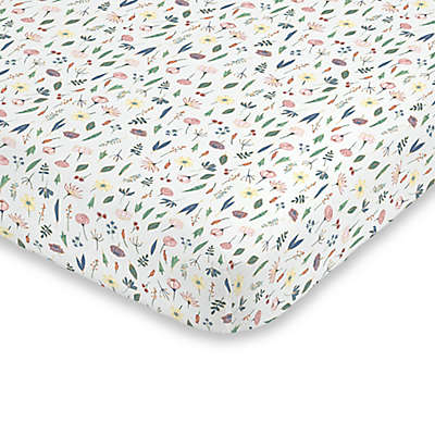 ED Ellen DeGeneres Painterly Floral Fitted Crib Sheet