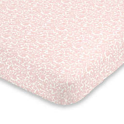 ED Ellen DeGeneres Painterly Floral Fitted Crib Sheet in Pink