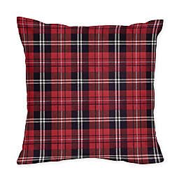 Sweet Jojo Designs® Rustic Patch Plaid Flannel Square Throw Pillows in Red/Black (Set of 2)